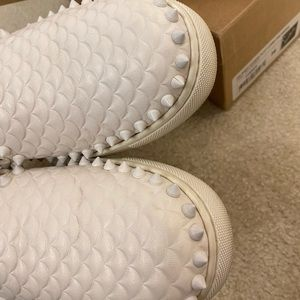 Christian Louboutin Shoes - Christian Louboutin PikBoat Nappa Scallop Sneakers